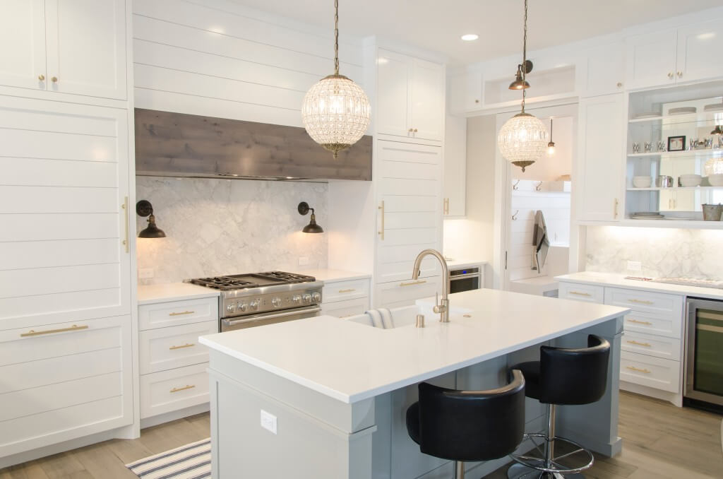 Stock photo of a white kitchen mortgage